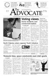The Advocate, November 7, 2002 by Minnesota State University Moorhead