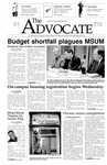 The Advocate, January 23, 2003 by Minnesota State University Moorhead
