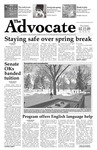 The Advocate, March 12, 2009 by Minnesota State University Moorhead