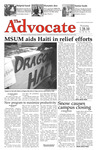 The Advocate, January 28, 2010 by Minnesota State University Moorhead