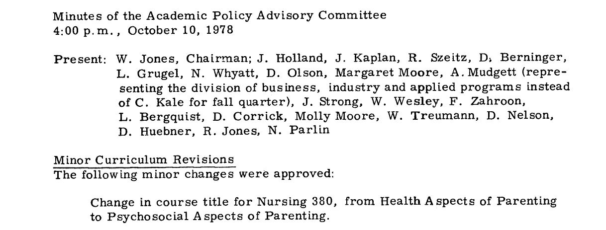 Academic Policy Advisory Committee