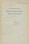 The Bulletin of the State Normal School. Moorhead, Minnesota. Published Quarterly. Catalogue Number. Thirty-first Year. 1919. Series Fifteen, Number One. (1919) by Minnesota. State Normal School (Moorhead, Minn.)