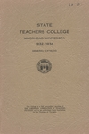 Annual Catalog (1932-1934) by Moorhead State Teachers College