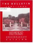 The Bulletin, Undergraduate Catalog 1991-93, volume 91, number 5, September (1991)