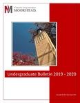 Undergraduate Bulletin, 2019-2020