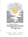 Commencement Program, May (1980) by Moorhead State University
