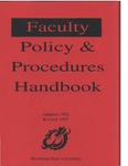 Faculty Handbook  (1992, revised 1997)