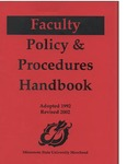 Faculty Handbook (1992, revised 2002) by Minnesota State University Moorhead