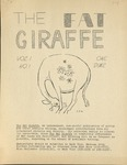 The Fat Giraffe, volume 1, number 1 (1969) by Fat Giraffe